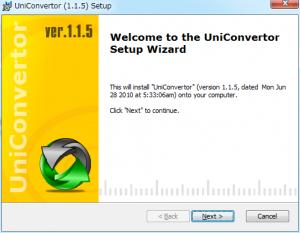 UniConvertorインストール (1)